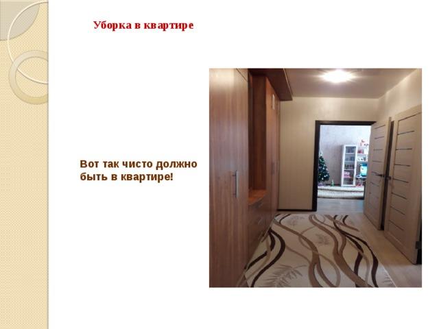 Уборка в квартире Вот так чисто должно быть в квартире!