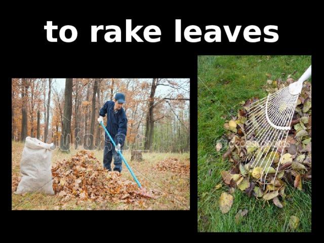 to rake leaves