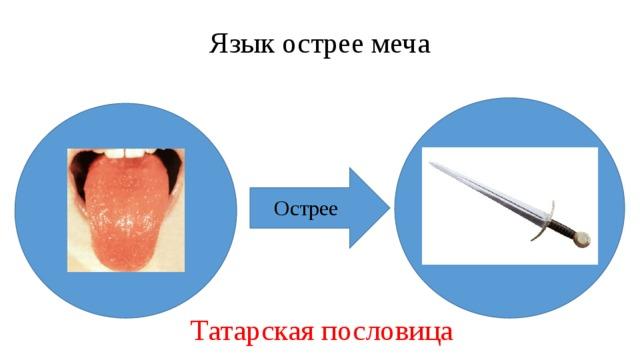 Язык острее меча Острее Татарская пословица
