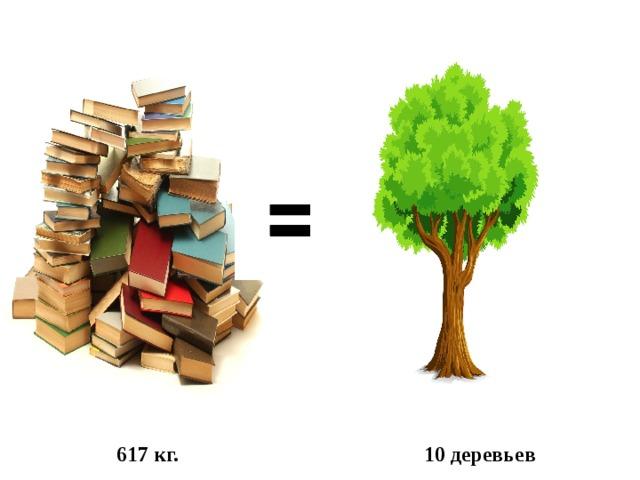 617 кг. 10 деревьев