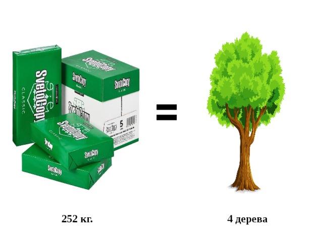 252 кг. 4 дерева