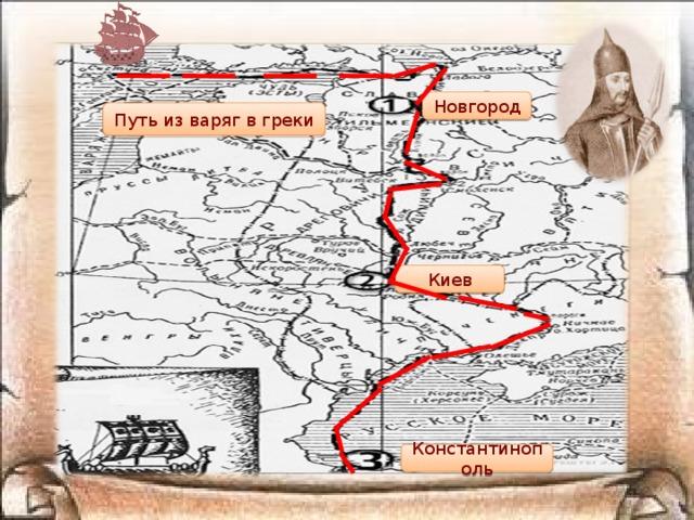 Новгород Путь из варяг в греки Киев Константинополь