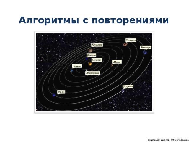 Алгоритмы с повторениями  Дмитрий Тарасов, http://videouroki.net