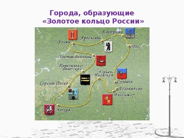 Города, образующие  «Золотое кольцо России»