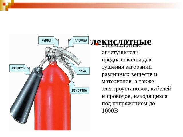 (  Огнетушители углекислотные переносные ОУ- Огнетушители углекислотные 2, ОУ-3, ОУ-5, ОУ-8)