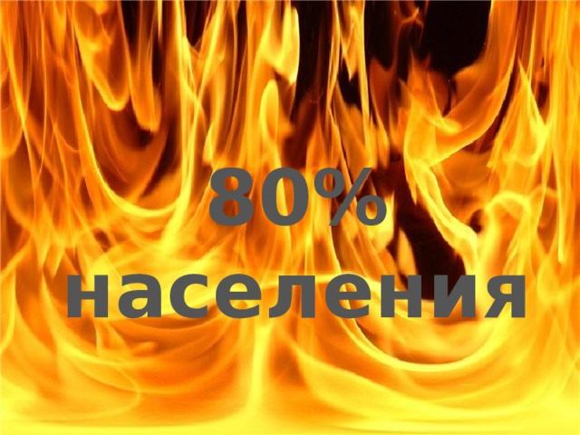 80% населения