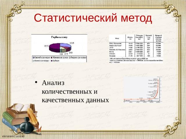 Статистический метод