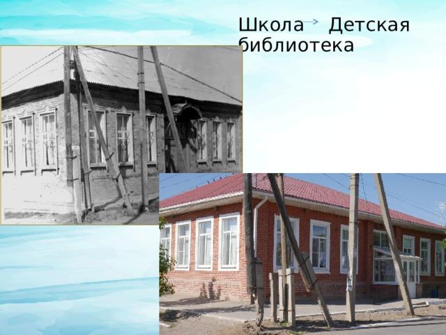 Школа Детская библиотека
