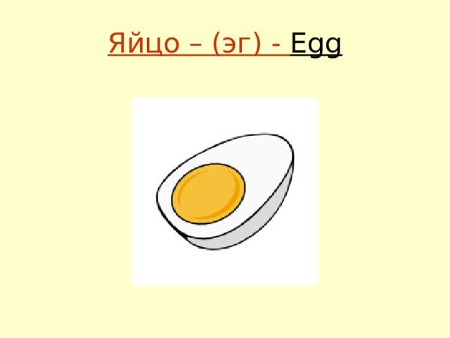 Яйцо – (эг) - Egg