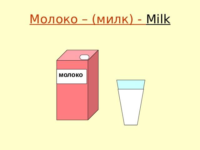 Молоко – (милк) - Milk молоко