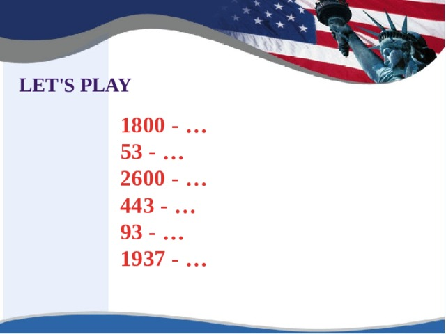 LET'S PLAY 1800 - … 53 - … 2600 - … 443 - … 93 - … 1937 - …