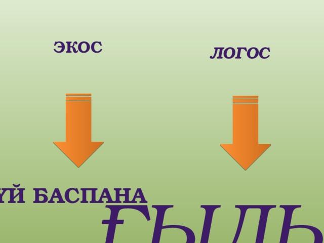 Экос логос Үй баспана ғылым