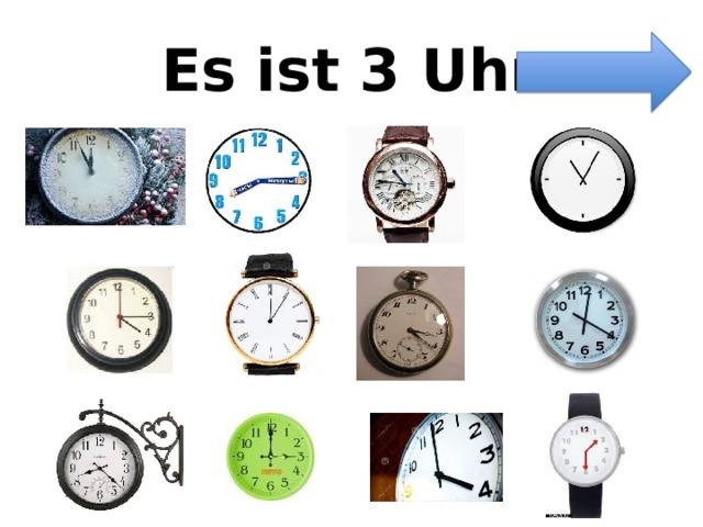 Es ist 3 Uhr.