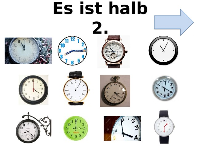 Es ist halb 2.