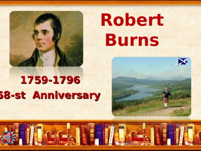 Robert  Burns 1759-1796 2 58 -st Anniversary