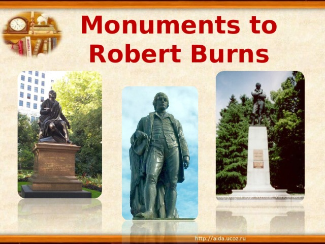 Monuments to Robert Burns