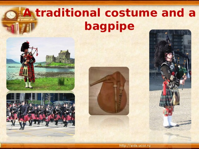A traditional costume and a bagpipe