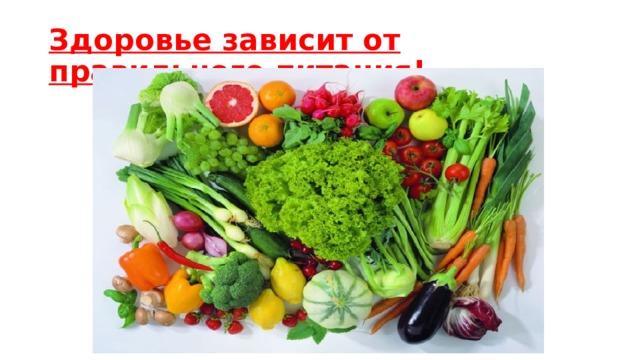 Здоровье зависит от правильного питания!