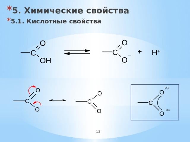 5. Химические свойства 5.1. Кислотные свойства