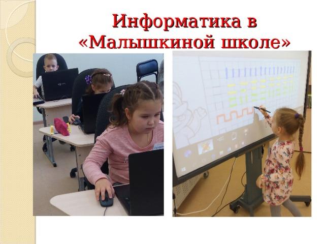 Информатика в «Малышкиной школе»