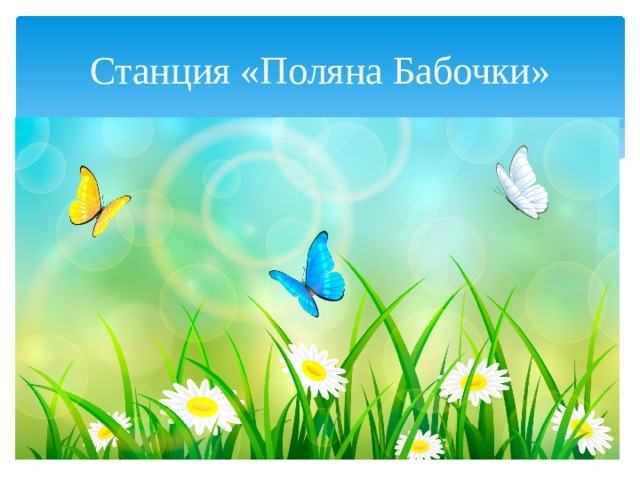 Станция «Поляна Бабочки»