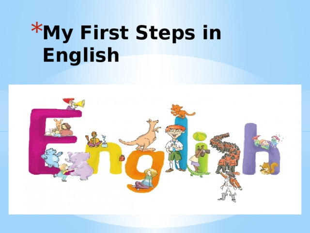 My First Steps in English