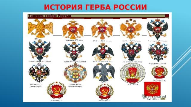 История герба россии