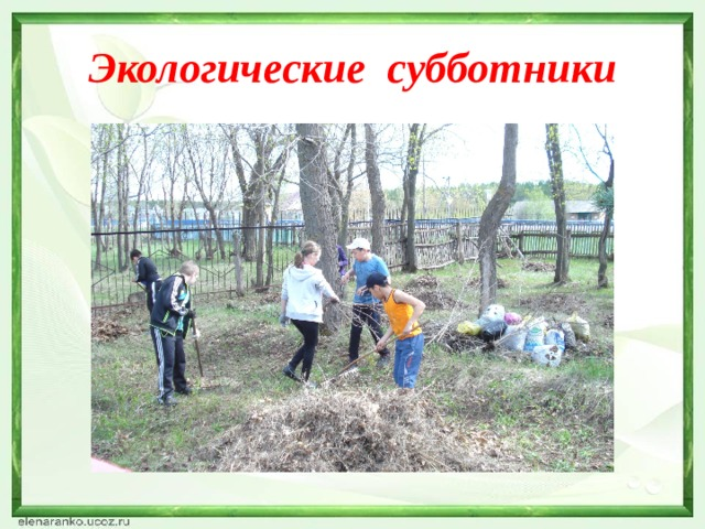 Экологические субботники
