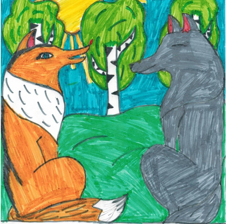 """Сказка """"Волк и лиса"""" на английском языке - английский язык ..."""