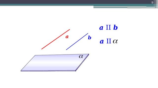 9 a II b а b a II 9