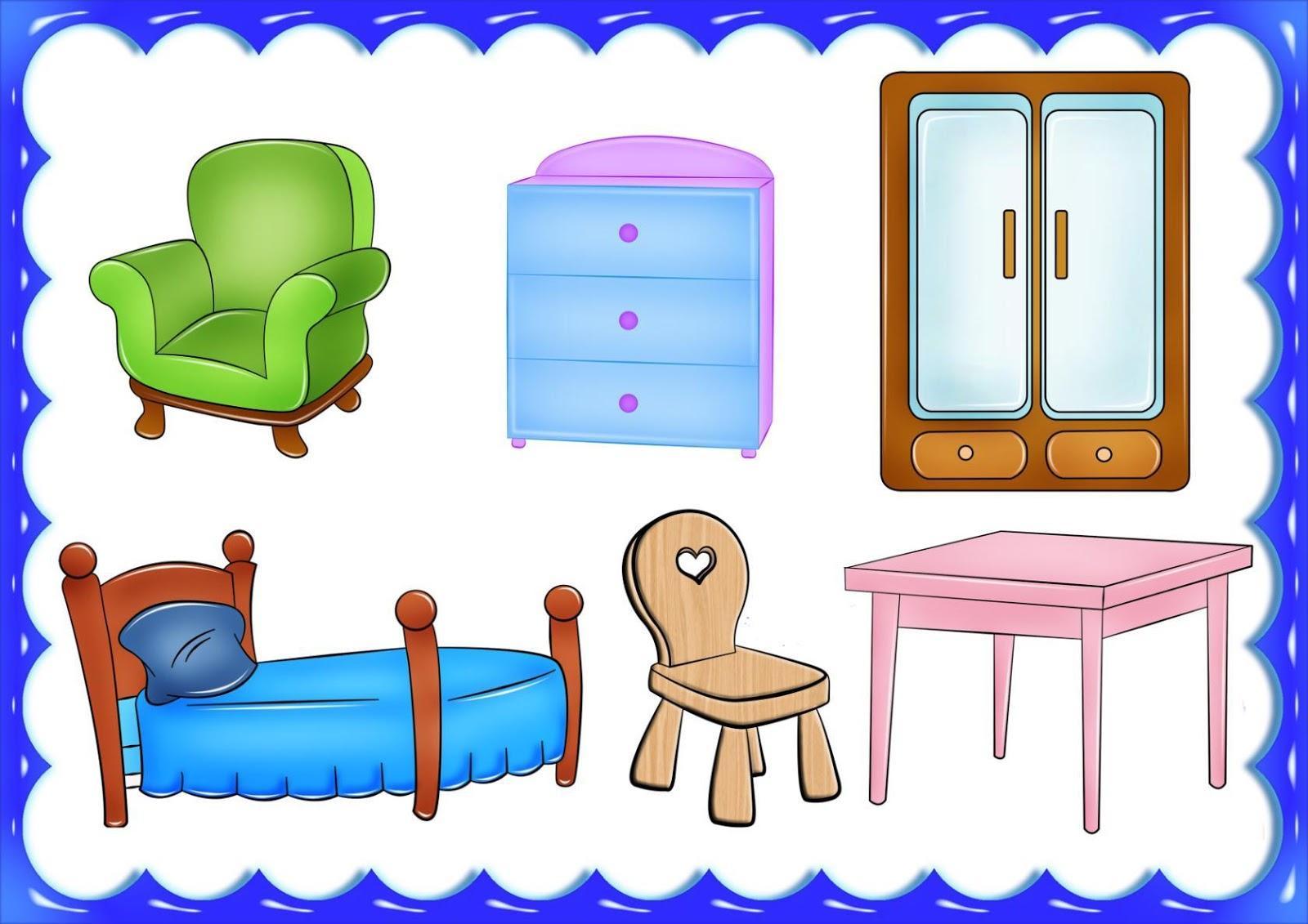 Картинки мебель на белом фоне для детей