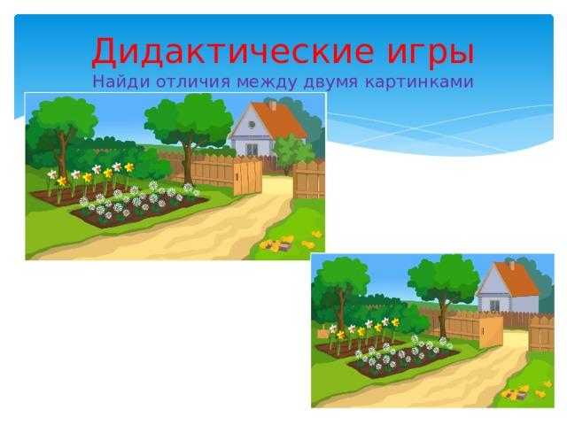 Дидактические игры  Найди отличия между двумя картинками