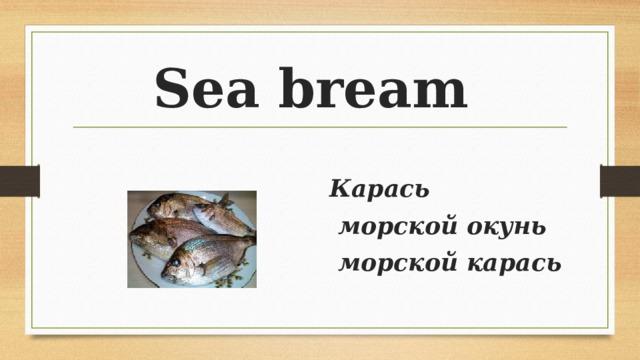 Sea bream Карась  морской окунь  морской карась