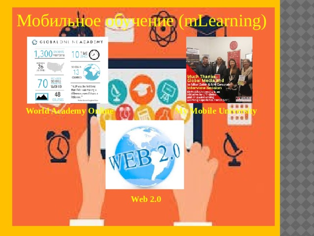 Мобильное обучение (mLearning) World Academy Online My Mobile University Web 2.0