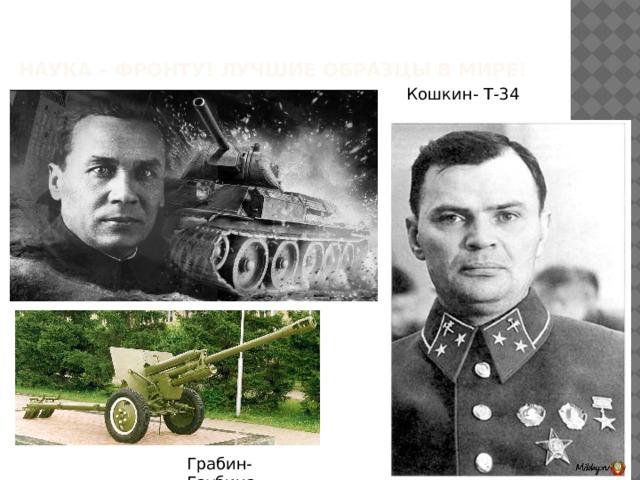 Наука – Фронту! Лучшие образцы в мире! Кошкин- Т-34 Грабин- Гаубица