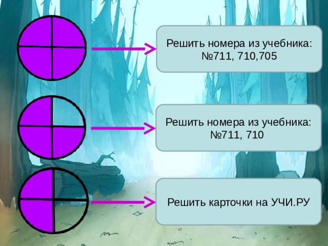 Решить номера из учебника: №711, 710,705 Решить номера из учебника: №711, 710 Решить карточки на УЧИ.РУ