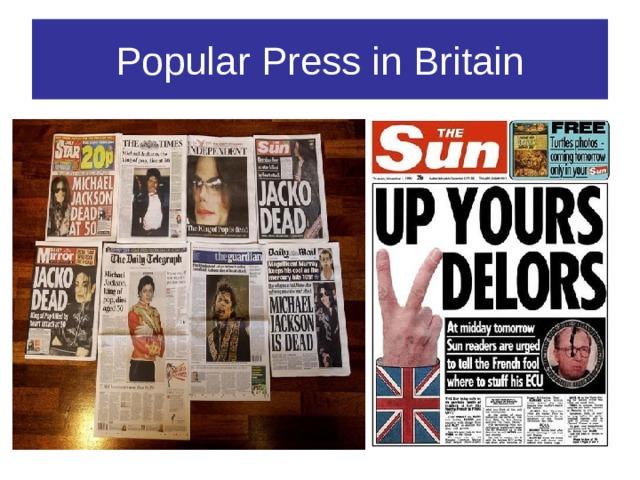 Popular Press in Britain