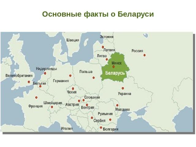 Основные факты о Беларуси