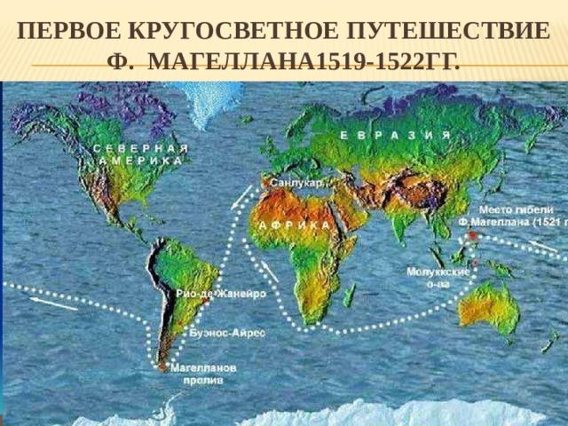 Первое Кругосветное путешествие Ф. Магеллана1519-1522гг.