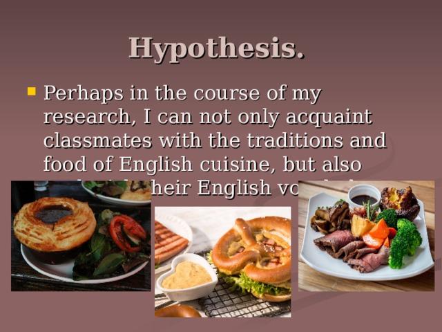Hypothesis.
