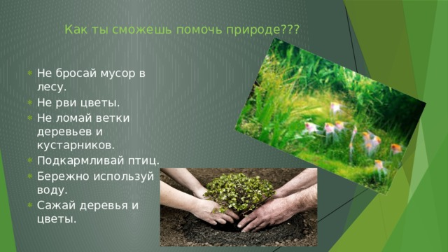 Как ты сможешь помочь природе???