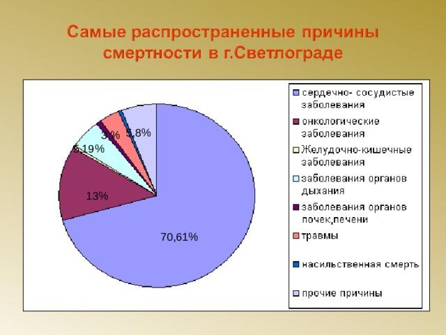 5,8% 3,% 5,19% 13% 70,61%