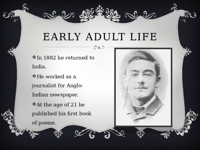 EARLY ADULT LIFE