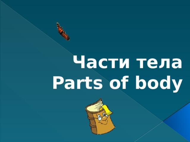 Части тела  Parts of body