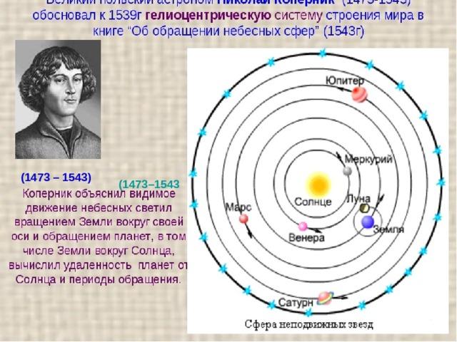 НиколайКоперник  (1473 – 1543) (1473–1543
