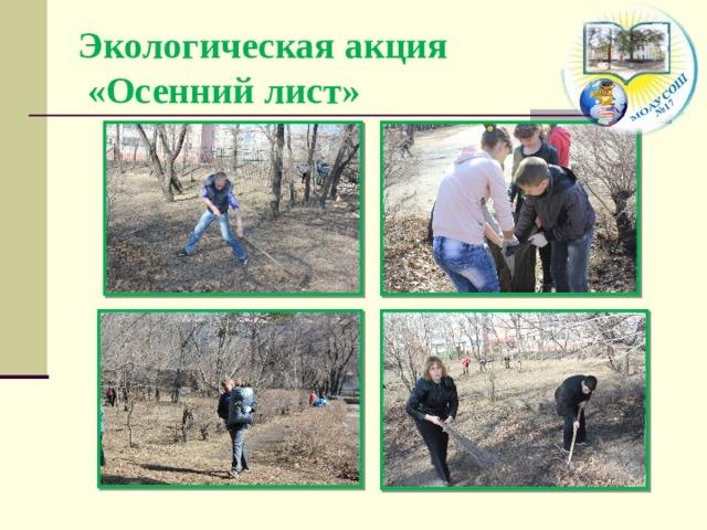 Экологическая акция  «Осенний лист»