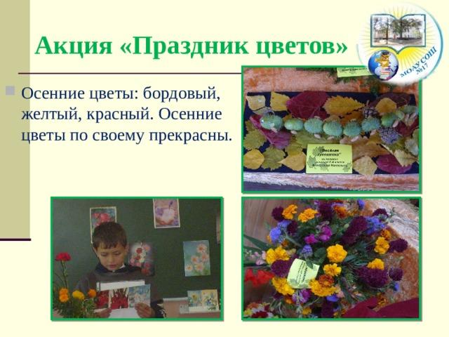 Акция «Праздник цветов»