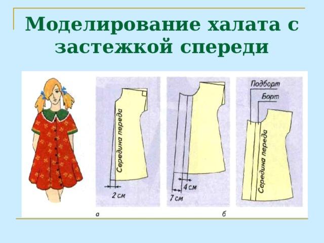 Моделирование халата с застежкой спереди