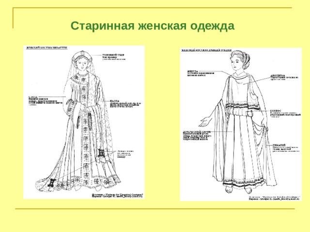 Старинная женская одежда
