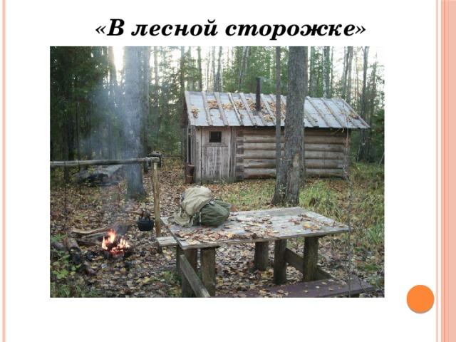 «В лесной сторожке»